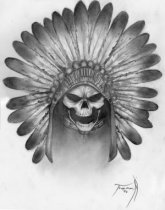 Headress_Skull_Tattoo_Art_by_MirrorStewedios