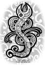 maori-dragon-taniwha-tribal-tattoo-flash