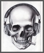 Skull_Headphones_Cigarette_by_pleas