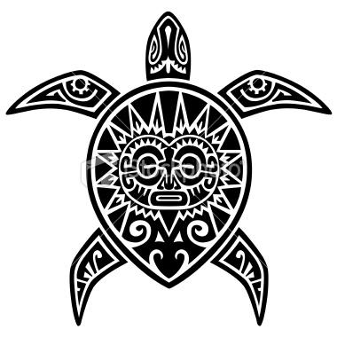 100 Desenhos Tribais » Tatuagens Maori Desenho 3 Tartaruga