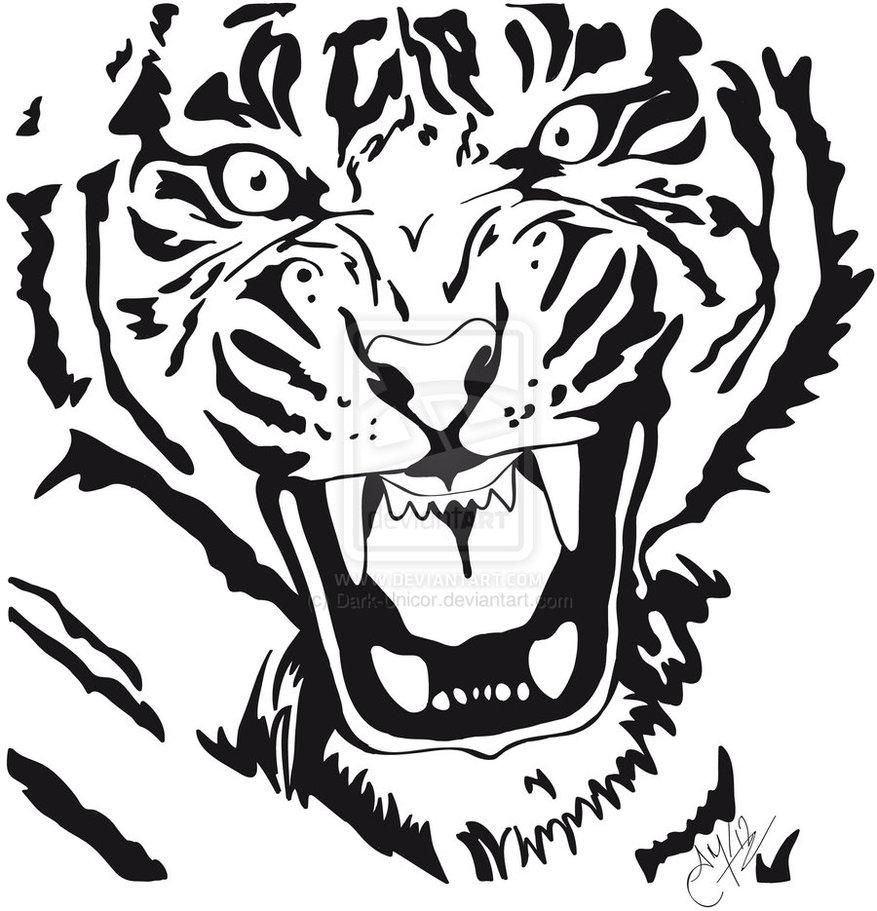 Tigre by dark unicor d5lwexa aido bonsai for Immagini tigre da colorare