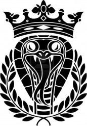 9133230-king-of-snakes-stencil-vector-illustration