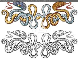 Illustration-Of-Two-Snakes-Tattoo-Design-3ca82c