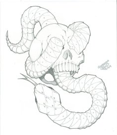 th04.deviantart.net*fs70*PRE*i*2012*091*1*4*snake_with_skull_tattoo_design_for_flash_by_icgreen-d4uo8wm