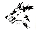 angry_tribal_wolf_tattoo_design