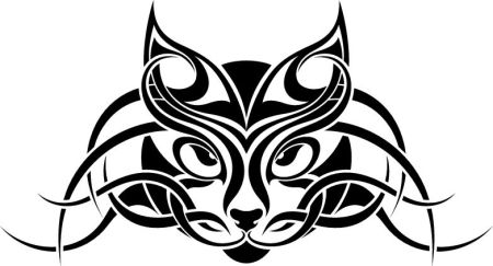 cat-tribal-tattoo
