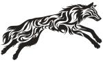 itattooz-leaping-wolf-tribal-tattoo