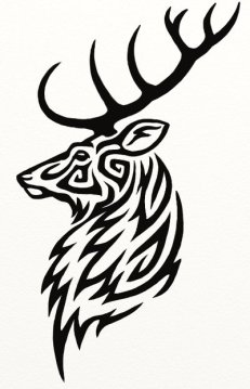 Stag_Tattoo_by_Hareguizer