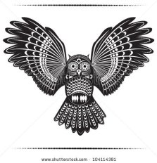 stock-vector-vector-illustration-of-wild-totem-animal-owl-104114381