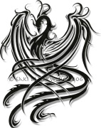tatuagem de fenix tribal 4
