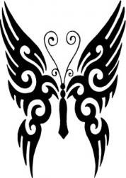 tribal-butterfly-tattoo-animals-veectors-517