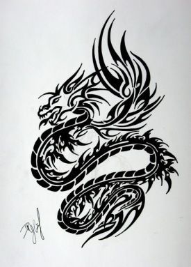 Tribal Dragon 007