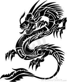 Tribal dragon tattoo pictures and meaning (1)