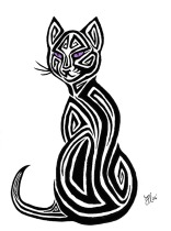 Tribal_Cat_Tattoo_Design_by_AerynOustinne