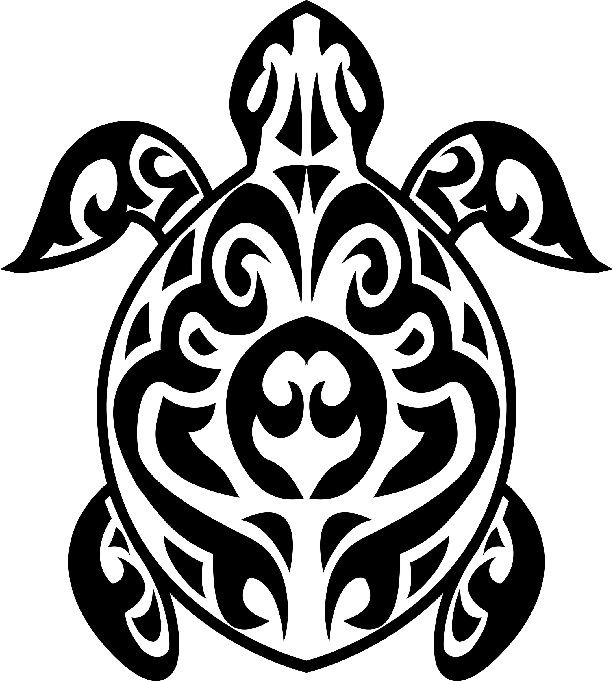 Vector Drawing Lines Disappear : Turtle tribal tattoo aido bonsai