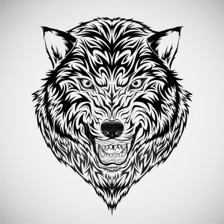 wolf_head_tribal_tattoo_by_kuzzie_013-d4zp9hd